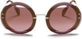 Miu Miu Mounted lens round sunglasses