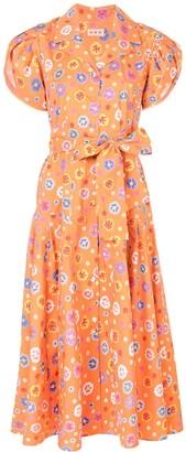 Lhd floral print midi dress