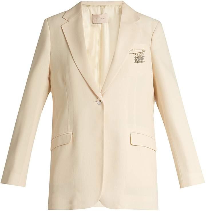 Christopher Kane Single-breasted stretch-wool blazer
