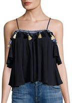 Tularosa Maely Solid Tassel Top