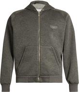 Givenchy Hooded leather-logo neoprene sweatshirt