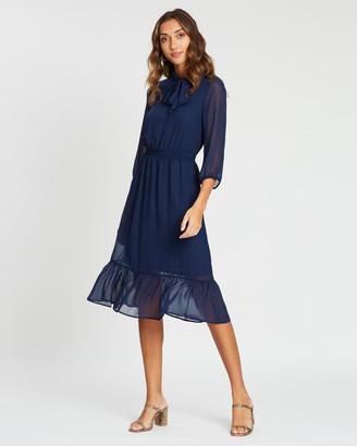 Dorothy Perkins Chiffon Pussybow Midi Dress