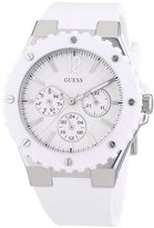 GUESS GUESS? W90084L1 40mm Stainless Steel Case White Rubber Women's Watch
