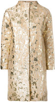 Gianluca Capannolo metallic jacquard coat - women - Cotton/Nylon/Polyamide/Acetate - 42