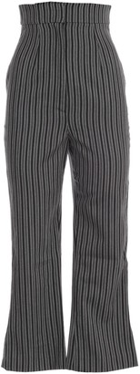 Jacquemus Striped High Waist Cropped Trousers