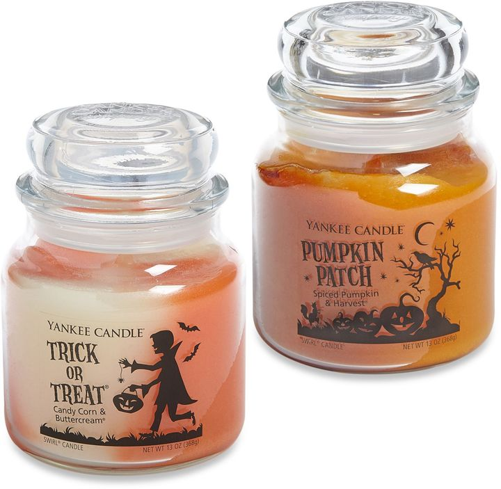 Yankee Candle Trick or Treat® and Pumpkin Patch Medium Swirl® Candle Jars