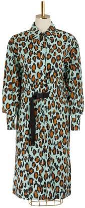 Kenzo Leopard shirt dress