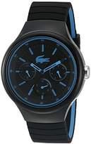 Lacoste Men's 'Borneo' Quartz Resin and Silicone Casual Watch, Color:Black (Model: 2010869)
