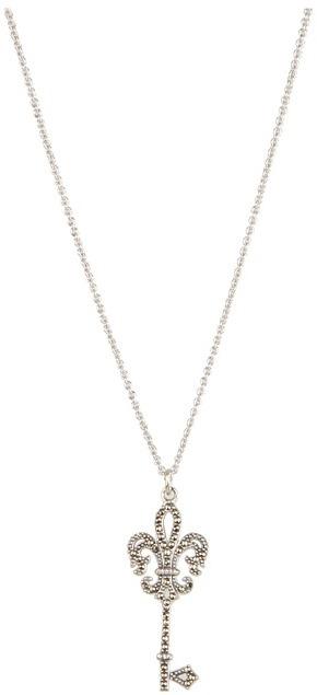 Judith Jack Bourbon 16 Key Necklace (Marcasite/Crystal) - Jewelry