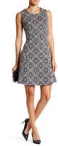 Dex Sleeveless Print Fit & Flare Dress