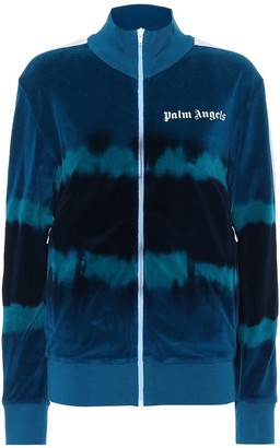 Palm Angels Cotton-blend chenille track jacket