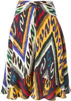 Etro ethnic print flared skirt - women - Silk - 40