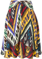 Etro ethnic print flared skirt