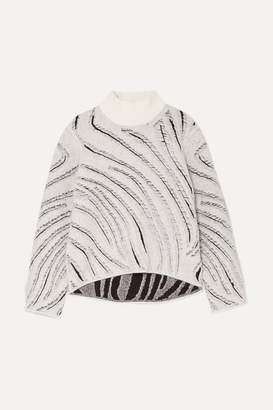 3.1 Phillip Lim Fil Coupe Knitted Turtleneck Sweater - Zebra print