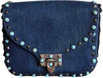 Valentino Guitar Rockstud Blue Denim - Jeans Handbags