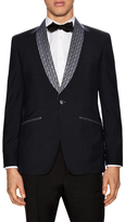 Hardy Amies Embroidered Shawl Collar Tuxedo Jacket