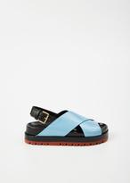 Marni arctic / black / clay fussbett sandal