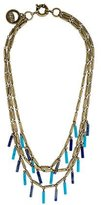 Giles & Brother Lapis & Turquoise Fringe Multistrand Necklace