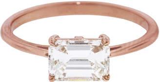 Bea Yuk Mui Anna Sheffield East-West Emerald Cut White Diamond Ring - Rose Gold
