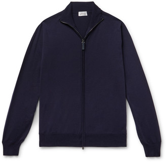 Brioni Wool Zip-Up Cardigan