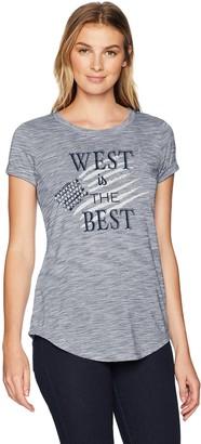 Ariat Women's R.E.A.L State Tee Blue X-L
