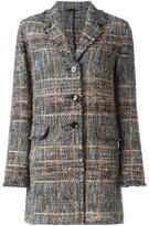 Etro checked coat - women - Cotton/Wool/Polyester/Acrylic - 46
