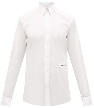 Givenchy Logo-embroidered Cotton Shirt - Mens - White