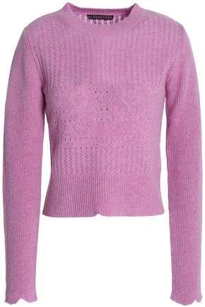 ALEXACHUNG Pointelle-Knit Wool Sweater