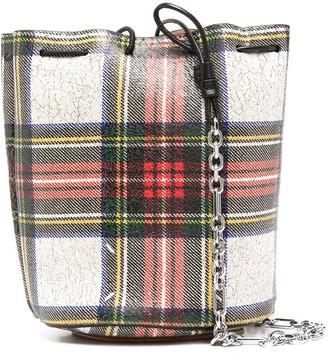 Maison Margiela Tartan Bucket Crossbody Bag