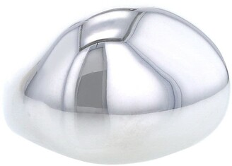 H.Stern 2000s Pre-Owned White Gold Rounded Brushed Ring