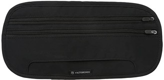 Victorinox Deluxe Concealed Security Belt with RFID Protection (Black/Black Logo) Wallet