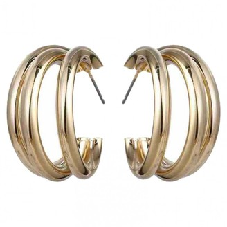 Non Signã© / Unsigned CrAoles Gold Metal Earrings