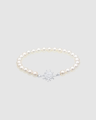Elli Jewelry Bracelet Edelweiss Flower Oktoberfest Shell Pearl 925 Sterling Silver