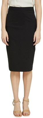 Oxford Peggy Blk Wool Stretch Suit Skirt
