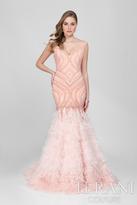 Terani Evening - Charming Beaded V-neck Mermaid Gown 1721GL4461