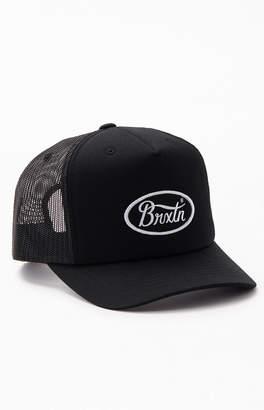 Brixton Black & White Parsons Snapback Trucker Hat