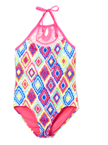 Vigoss Barbie Pink Diamond Girl Macrame One-Piece - Girls