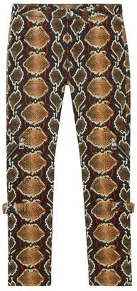 Burberry Python Print Skinny Jeans