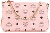 MCM logo print clutch bag - women - Leather - One Size