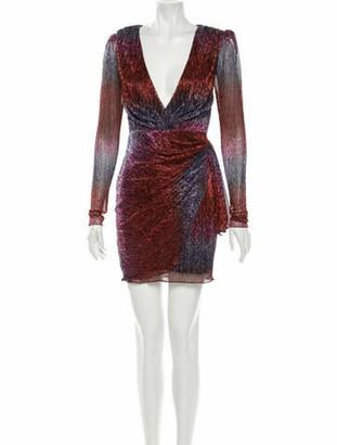 PatBO Tie-Dye Print Mini Dress w/ Tags Red