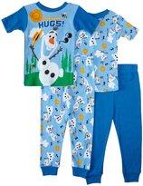 Disney 4 Piece Frozen PJ Set (Toddler) - Olaf-2T