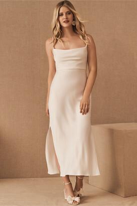 BHLDN Cali Satin Charmeuse Midi Dress