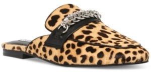 Steve Madden Women's Kalista Cheetah-Print Chain Mules