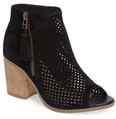 Sole Society Women's Dallas Peforated Peep Toe Bootie