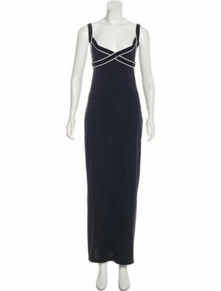 Herve Leger Sleeveless Maxi Dress Blue