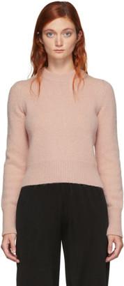Ami Alexandre Mattiussi Pink Pullover Alpaca Wool Sweater