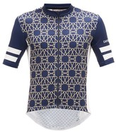 Café Du Cycliste Tichka Zip-though Cycling Top - Mens - Navy Multi