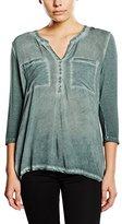 Tom Tailor Women's 3/4 sleeve T-Shirt - Green -