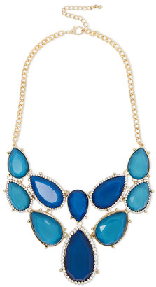 Kenneth Jay Lane Gold-tone, Crystal And Stone Necklace
