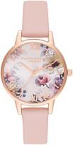 Olivia Burton Sunlight Florals Leather Strap Watch, 30mm
